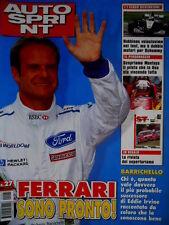 Autosprint 27 1999 Alleg Rivista SuperTurismo. Hakkinen veloce nei test. SC.57