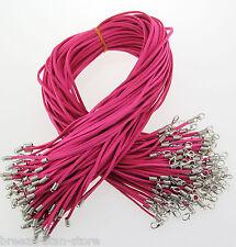 hot Wholesale Bulk lot 10 pcs rose Suede Leather String 20 inch Necklace Cords