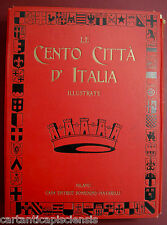 libro antico RACCOLTA CENTO CITTÀ D'ITALIA  1920 1° volume 1-50 CON CUSTODIA