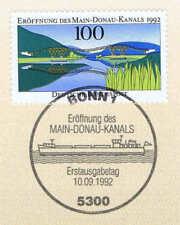 BRD 1992: Main-Donau-Kanal Nummer 1630 mit dem Bonner Ersttags-Sonderstempel! 1A