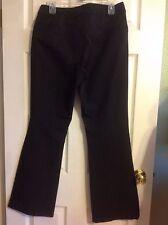 CACHE ~ BLACK~NYLON BLEND~ZIPPER FRONT~TROUSER PANTS~Sz. 10