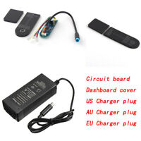 For XIAOMI Mijia M365 Scooter Circuit Board Dashboard Cover Charger Adapter Plug