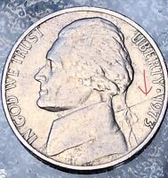 1973 P Jefferson Nickel - Huge Die Crack Error On The Obverse!