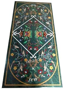 30 x 72 Inches Floral Design Restaurant Table Top Marble Patio Dining table top