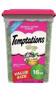 TEMPTATIONS Classic Crunchy and Soft Cat Treats, 16 oz. Catnip