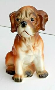Vintage Unmarked Very Cute Ceramic Dog Figurine - Gorgeous Face Nice