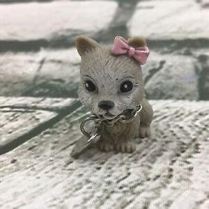 Miniature Puppy Dog Figure Dollhouse Pet Realistic Detailed Yorkie By Mattel