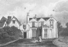 LINCS. Scrivelsby Hall. Saunders 2 Female 1836 old antique print picture