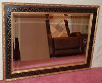 """Vintage Large Wood & Gesso BOMBAY Co. Black & Gold 31"""" x 43"""" Mantle"""