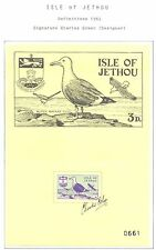 ENGLAND LOCAL STAMPS  ISLE OF JETHOU  1961  SIGNATURE OF THE DESIGNER