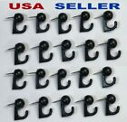 20 Black Hook Hangers Thumb Tacks Push Pins Home Office Decor  Cork Me