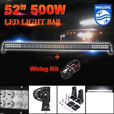 "500W 52""inch LED Light Bar PHILIPS Flood Spot Combo Offroad ATV UTE 4WD 51""/50"""