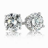 .25 ct. White Sapphire Round Stud Earrings ~ Solid Sterling Silver ~ Gift box