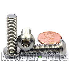 M8 x 30mm - Qty 10 - A2 Stainless Steel BUTTON HEAD Socket Cap Screws - ISO 7380