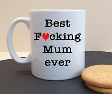 BEST F*CKING MUM EVER GRAN GRANNY MAM MOTHERS DAY PERSONALISED CERAMIC MUG GIFT