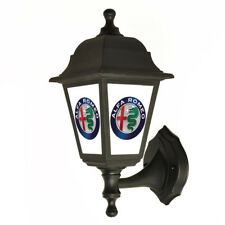 Alfa Romeo Back lit Garage - Outside Wall Light - Lantern - Sign Light
