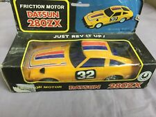 Datsun 280zx Rennwagen ca 80er Jahre Vinatge Plastic Friction Toy Mint in Box