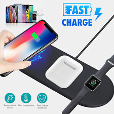 3 In1 QI Wireless Charger Charging Dock Station For Apple Airpods iWatch Phone