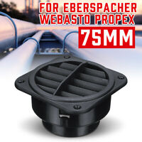 75mm Car Heater Ducting Air Vent Outlet Black Fit Eberspacher Propex AU