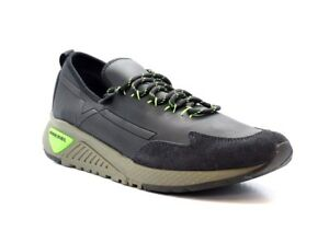 DIESEL Y01534 P1414 H6441 Mn's (M) Black/Green Poly-Leather Casual Shoes