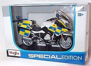 BMW R 1200 RT UK Police Motorbike Toy Motocycle Maisto 34306 scale 1:18