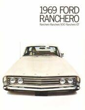 FORD 1969  Ranchero, Ranchero 500 & Ranchero GT Foldout Sales Brochure 69