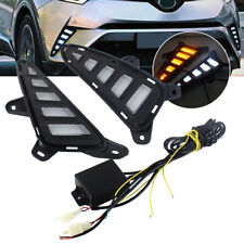 DRL Daytime Running Fog Light With Amber Turn Signal For Toyota CHR 2017-2018