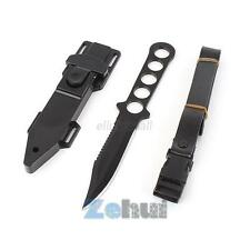 Stainless Steel Scuba Diving Fixed Blade Knife Survival Hunting Serrated Dagger