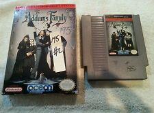 THE ADDAMS FAMILY ORIGINAL NES GAME NINTENDO Cartridge & Original Box Only