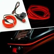 2M Red LED Car Interior Decor Atmosphere EL Wire Strip Light Lamp Accessories