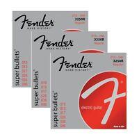 3-Pack Fender 3250R Nickel-Plated Steel Bullet-End Electric Guitar Strings 10-46