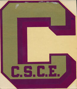 Colorado State College of Education Original 1940's Decal VTG UNC Northern Bears