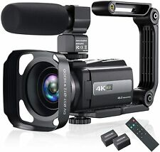 NEW 4K Video Camera Camcorder 48MP 60FPS WiFi Night Vision IPS Touch Screen Mic