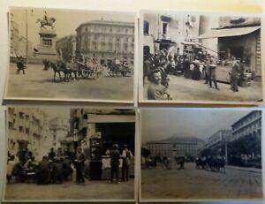 Lotto n. 4 Foto Napoli 1930 ca. 11,0 x 8,0 cm (P438) Come da foto