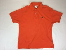 Lacoste Mens 5 Medium Orange Polo Short Sleeve Authentic Dress Shirt F1