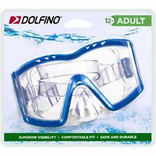 Dolfino ADULT Optum Tri-View Swim Goggle Mask BLUE Latex-Free Swimming Pool Trai