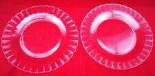 2 assiettes DURALEX Marguerite French Plat Verre Plates Glass France