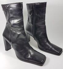 Nine west black leather high heel ankle boots uk 5 eu 38