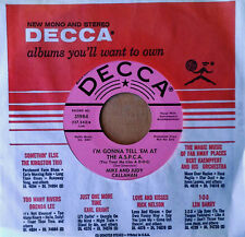 MIKE AND JUDY CALLAHAN - I'M GONNA TELL 'EM AT THE A.S.P.C.A. - DECCA 45 - PROMO