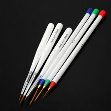 6/Set Striper Pinsel Nail Art Spitzpinsel UV Acryl Gel Künstliche Fingernägel