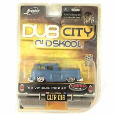 Jada Dub City Old Skool 1963 63 VW Bus Pickup Volkswagen Blue Diecast 1/64 Scale
