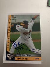 Tyler Watson Signed Card Auto Milb Baseball Bees Angels