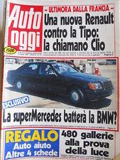 Auto OGGI n°171 1990 Nuova auto della Renault la CLIO  [Q201]
