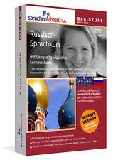Russisch lernen Sprachkurs Basiskurs Neu auf CD-ROM A1+A2 Sprachenlernen24