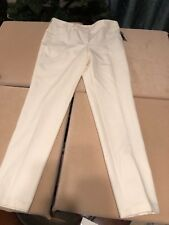 AKRIS Magda Stretch Cotton Silk Trouser Pants in paper color Size 8 $995