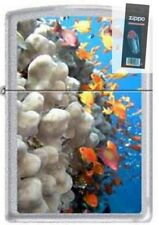 Zippo 0751 coral reef fish chrome RARE & DISCONTINUED Lighter + FLINT PACK