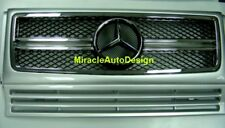 G63 LOOK SILVER (#775) FRONT GRILLE SET FOR 1990-2013 MERCEDES BENZ W463 G-CLASS