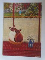 Künstlerkarte, Katzen,   1980,  Valdeneige   ♥  (70422)