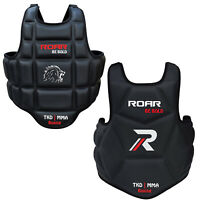 ROAR MMA Boxing Chest Guard Kickboxing Training Gear TKD Armour Body Protector