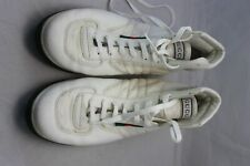 7ac5ea6a6 Gucci men's White Leather Nylon High Top Lace-up Sneakers 12D